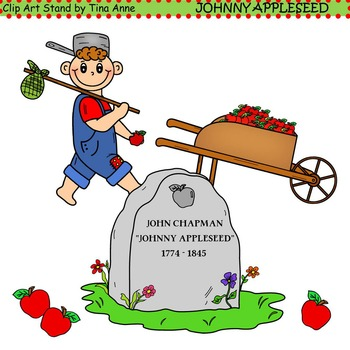 clip art johnny appleseed by clip art stand by tina anne tpt rh teacherspayteachers com johnny appleseed day clipart
