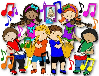 clip art joyful noise music kids with instruments tpt rh teacherspayteachers com music instruments clipart images music staff clipart images