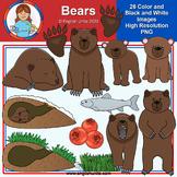 Clip Art - July Freebie - Bears