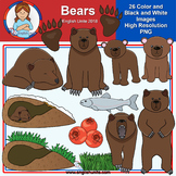 Clip Art - July Freebie - Bears