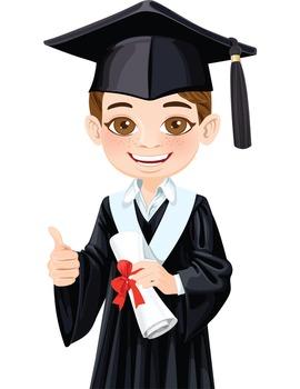 Clip Art - KALEB - male, boy, student, digital graphics - graduation
