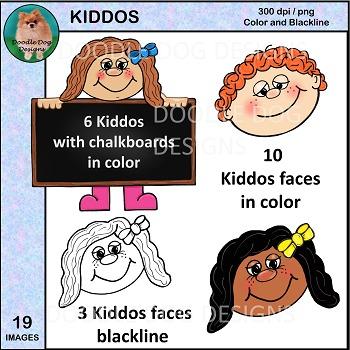 Kids - Faces Clip Art