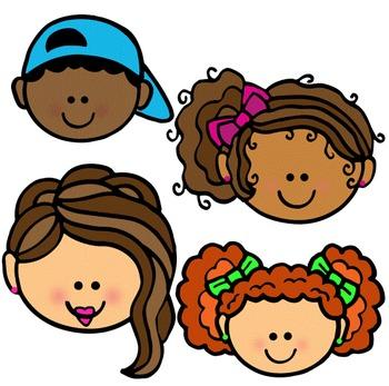 Clip Art~ Kids' Faces