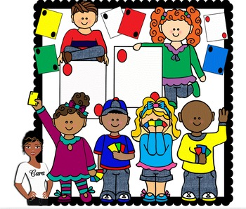 Clip Art~ Kids Playing Cards ~ Go Fish / UNO