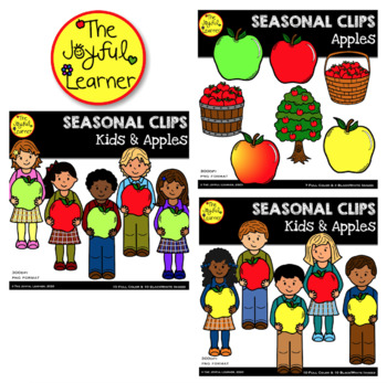Clip Art: Kids & Apples