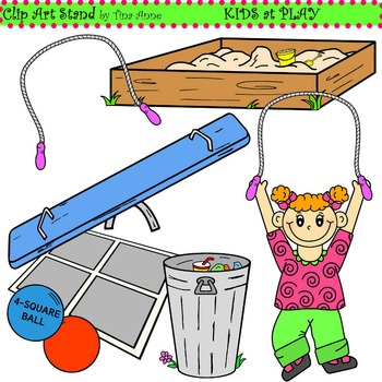 Clip Art Kids at Play