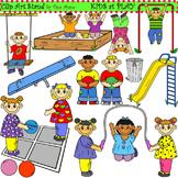 Clip Art Kids at Play