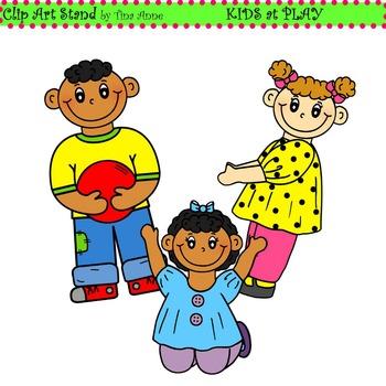 Clip Art Kids at Play Combo