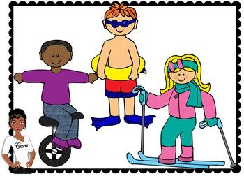 Clip Art~ Kids in Action