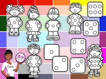 Clip Art~ Kids with Dice
