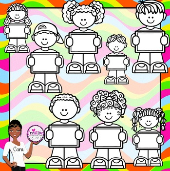 Clip Art~ Kids with Signs