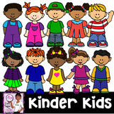 Clip Art~ Kinder Kids