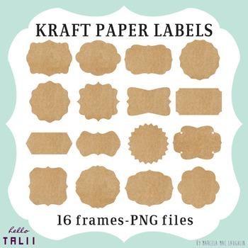 Clip Art: Kraft Paper Labels