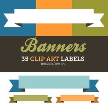 Clip Art: Labels Classic Clean Banner 35