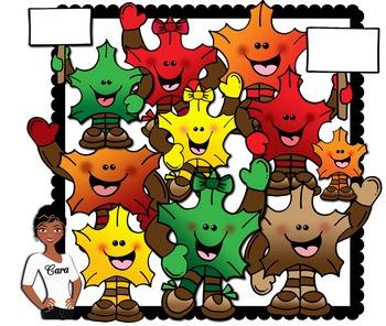 Clip Art~ Leaf Kids (Autumn / Fall)