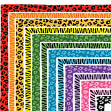 Clip Art: Leopard and Zebra Print Border Set