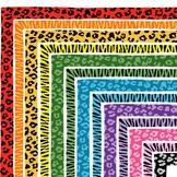Clip Art: Leopard and Zebra Print Border Set