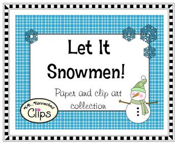 Clip Art ~ Let it Snowmen!