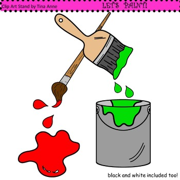 Clip Art Let's Paint
