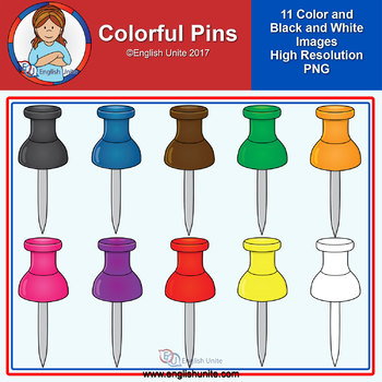 Clip Art - Colorful Pins