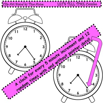 Clip Art Let's Tell Time Combo