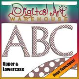 Clip Art: Letter  Number Symbol Set - Polka Dots font Fonts