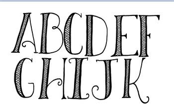 Clip-Art Letters Crosshatch