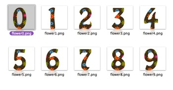 Clip Art Letters & Numbers Too Groovy Color Palette (personal / commercial use)