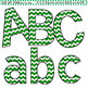 Clip Art Letters and Punctuation Chevron Green and White