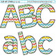 Clip Art Letters and Punctuation Chevron Multi Color