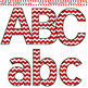 Clip Art Letters and Punctuation Chevron Red and White