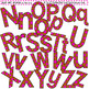 Clip Art Letters and Punctuation Polka Dots Brown and Pink