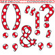 Clip Art Letters and Punctuation Polka Dots Red and White