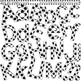 Clip Art Letters and Punctuation Polka Dots White and Black