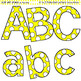 Clip Art Letters and Punctuation Polka Dots Yellow and White