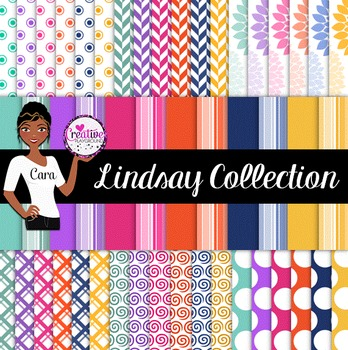 Clip Art~ Lindsay Digital Paper Collection