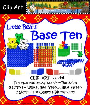 Clip Art--Little Bears Base Ten