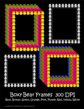 Clip Art--Little Bears Borders and Frames