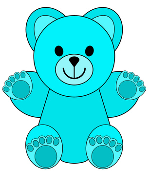 clip artlittle colored bears by thematic teacher tpt