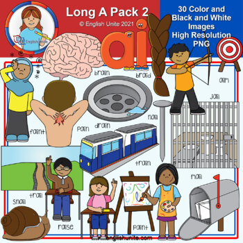 Clip Art - Long A Pack 2 (ai)