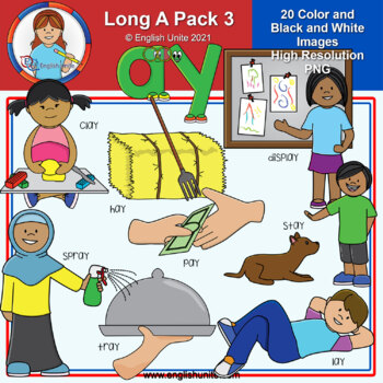 Clip Art - Long A Pack 3 (ay)