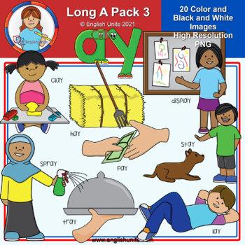 Clip Art - Long A Pack 3 (ay)