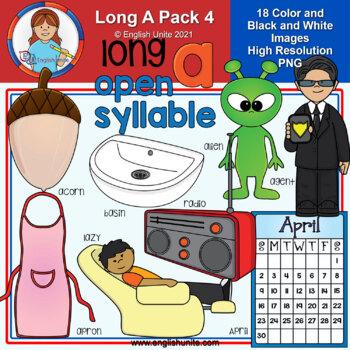 Clip Art - Long A Pack 4 (open syllables)