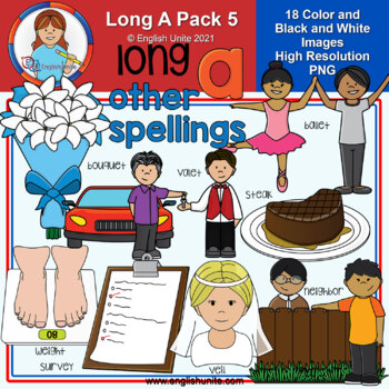 Clip Art - Long A Pack 5 (other spellings)