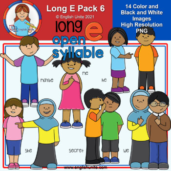 Clip Art - Long E Pack 6 (open syllables)