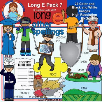 Clip Art - Long E Pack 7 (other spellings)