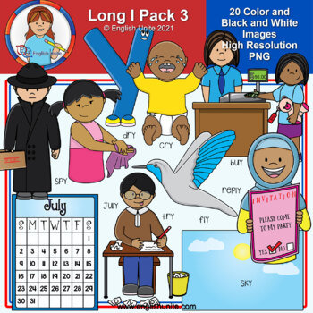 Clip Art - Long I Pack 3 (y as an i)