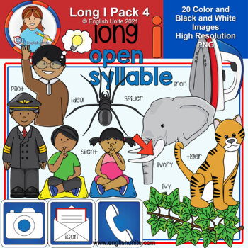 Clip Art - Long I Pack 4 (open syllables)