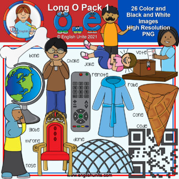 Clip Art - Long O Pack 1 (o-e)