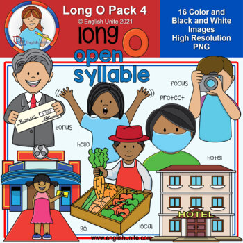 Clip Art - Long O Pack 4 (open syllables)